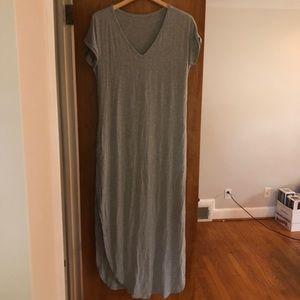 Grey Vneck Maxi Dress